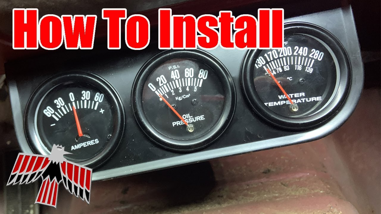 How to install WATER temperature gauge & How to install OIL pressure gauge in Small Block Chevy 350