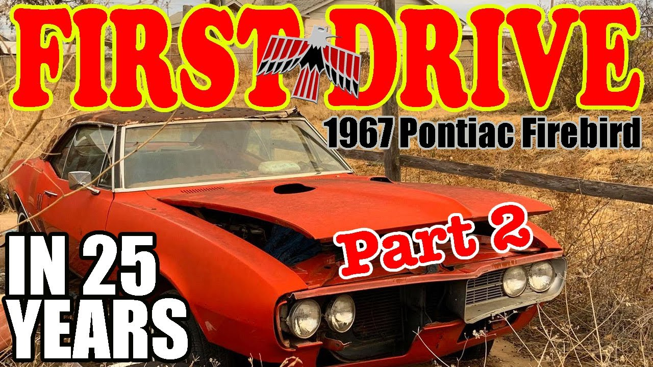 FIRST DRIVE ABANDONED 1967 Pontiac Firebird Will It Run? Fuel lines, Rear Diff and TH350 Part 2
